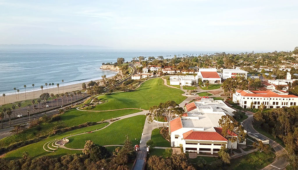 SBCC's west campus overlooks the ocean.