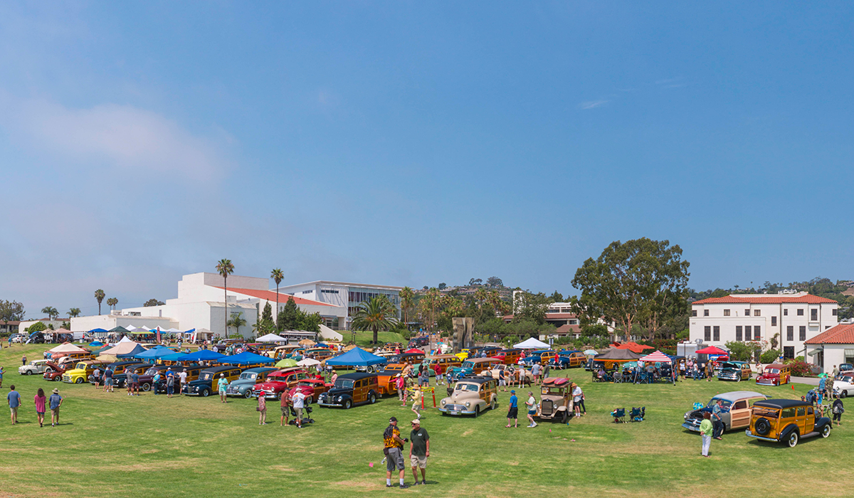 SBCC brings woodies cars to its west campus.