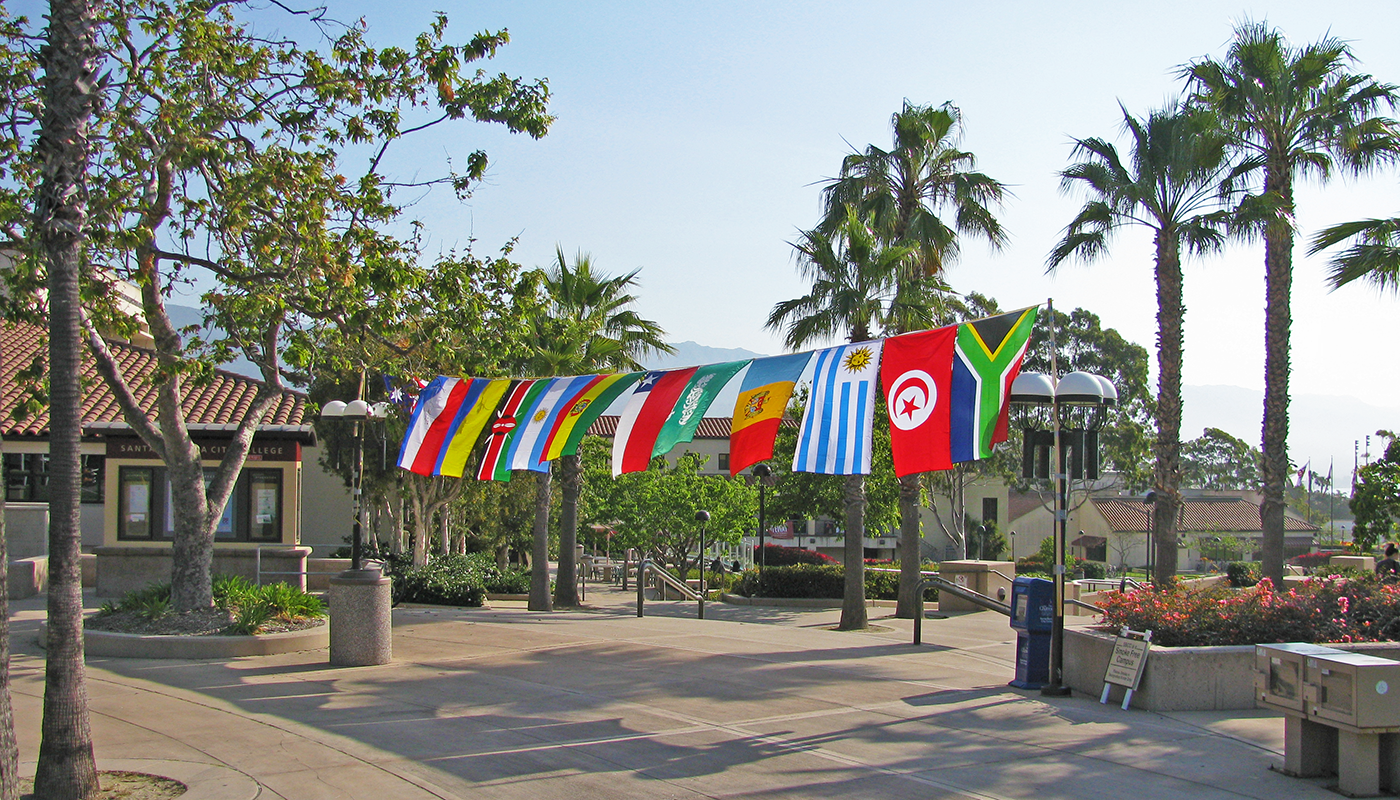 SBCC with flags from all around the globe.