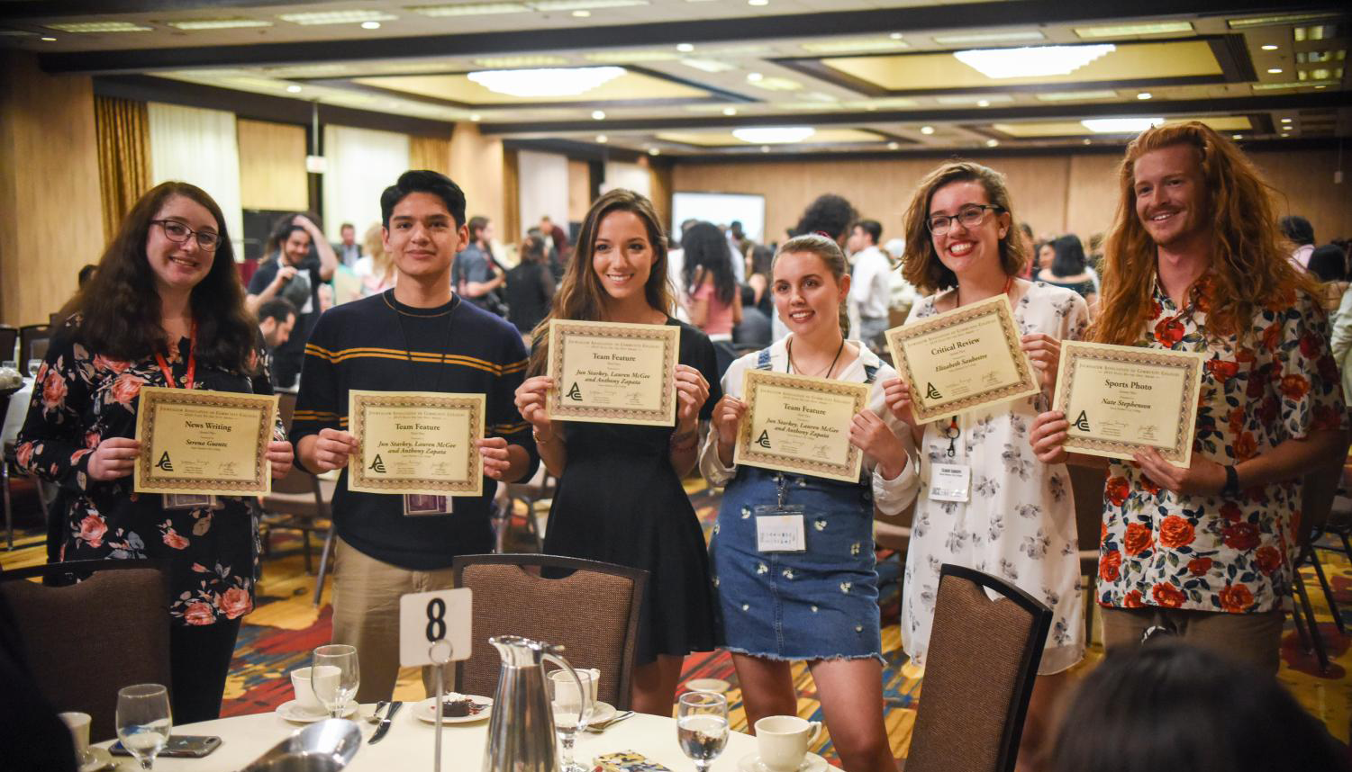 Santa Barbara City College journalism students winning awards.