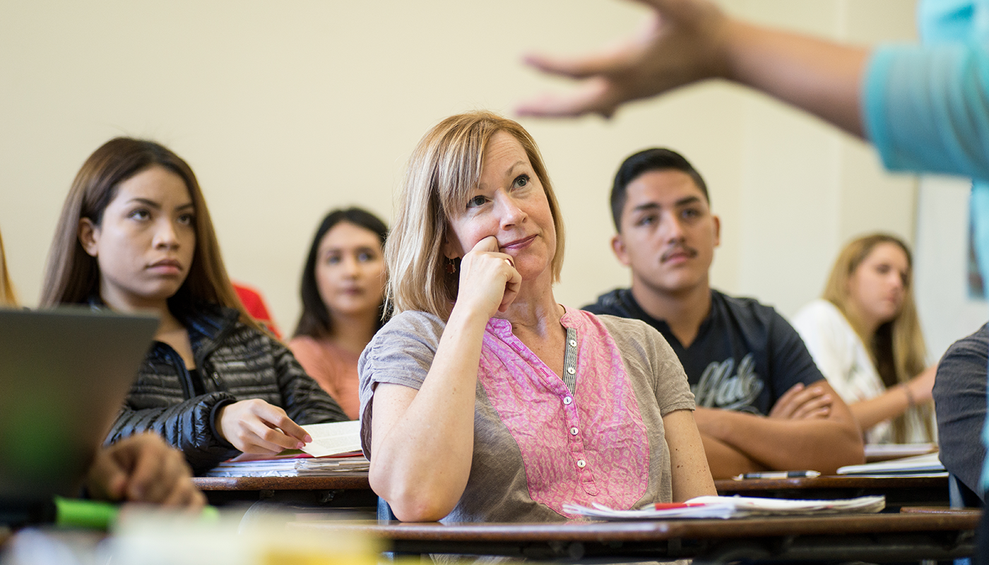 Students in a liberal studies classroom at SBCC.