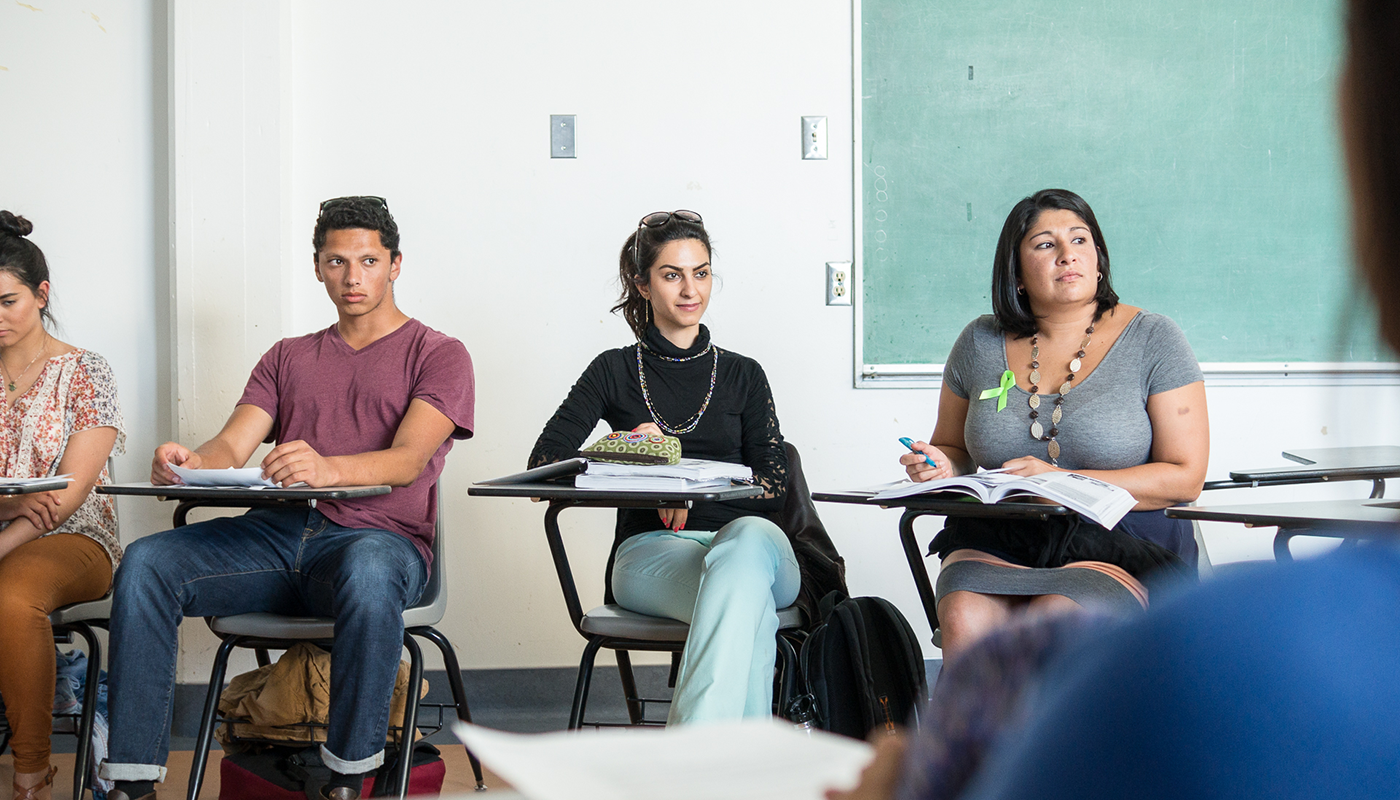 Santa Barbara City College students in a philosophy class.